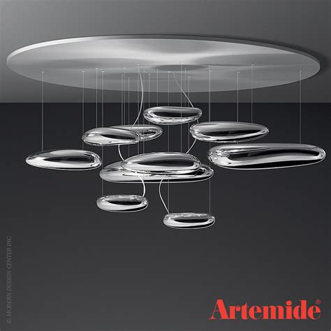 mercury ceiling light artemide metropolitandecor