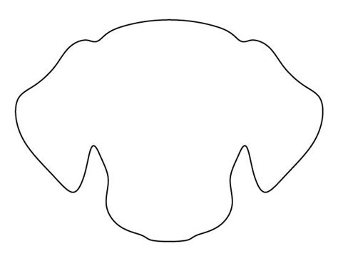 puppy template pattern use the printable outline for crafts
