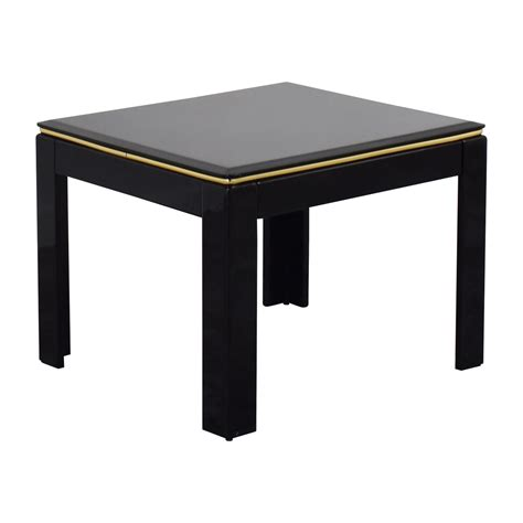 90 Black Lacquer End Table Tables