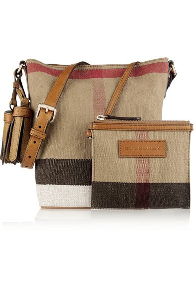 Burberry Canvas Shoulder burberry mini leather trimmed checked canvas shoulder bag net a porter