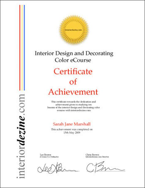 interior design certification interior design certificate beautiful home interiors