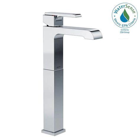 delta vessel sink faucets delta ara single single handle vessel bathroom faucet