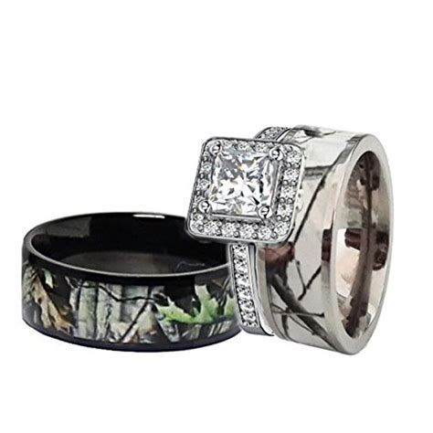 Top 10 Engagement Ring Sets For Women Camo of 2019   No