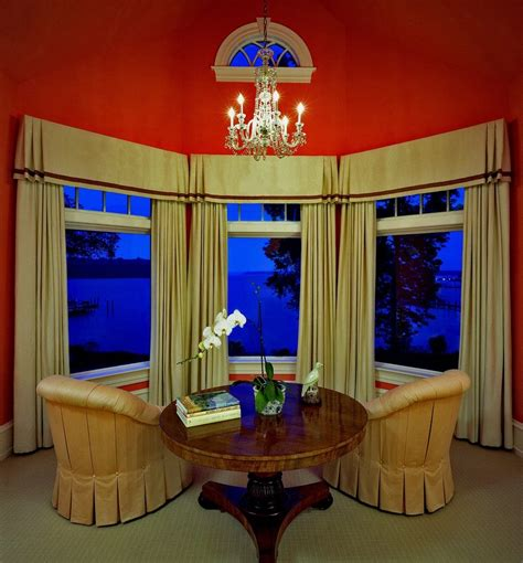 inverted living inverted living inverted box pleated valances dining room