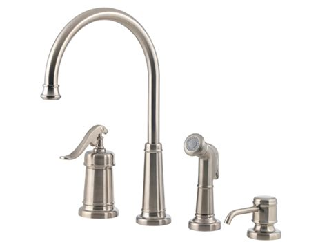 Pp Faucet by Pfister Ashfield 1 Handle Kitchen Faucet Brushed Nickel