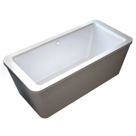 center drain bathtub universal tubs carnel 5 6 ft acrylic center drain