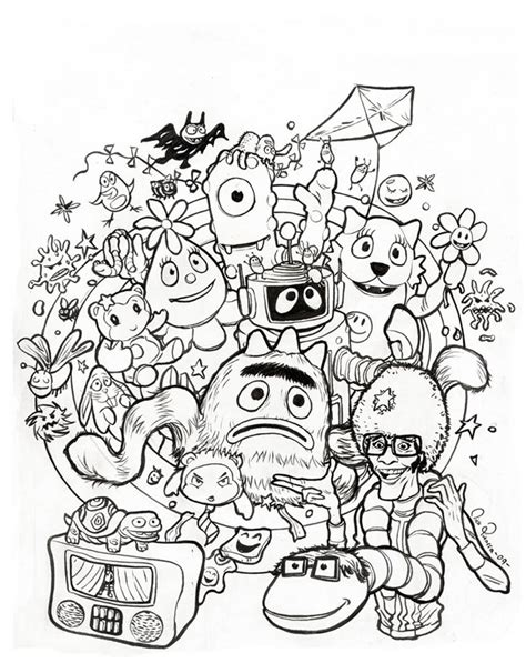 yo gabba gabba coloring pages archives