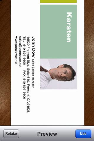 Turn Business Cards Into Contacts