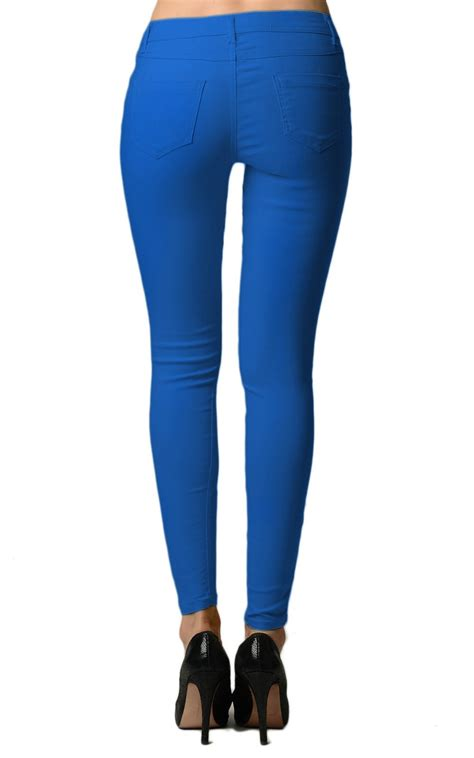 colored jeggings royal blue colored tight jeggings home goods galore