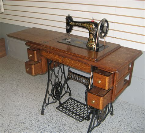 singer sewing machine cabinet styles early 1900s singer treadle sewing machine with 5 drawer