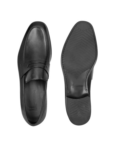 moreschi loafers moreschi brunei black leather loafer in black for lyst