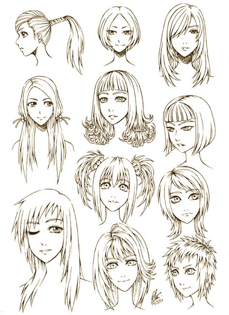 hairstyles of anime female hair style by fullmetalaof on deviantart art
