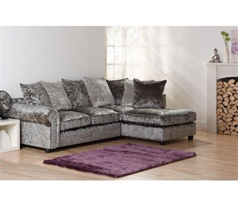 Velour Corner Sofa by Sofa Mesmerizing Grey Velour Sofa Velvet With Nailheads