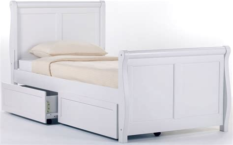 Sleigh Bed With Storage School House White Sleigh Bed With Storage 7050ns Ne
