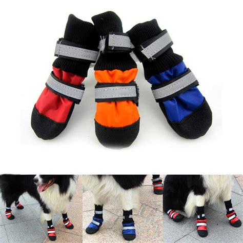 boots for dogs warm pet outdoor boots waterproof non slip shoes for fogs