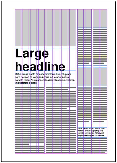 grid layout newspaper magazine columns and their layout options magazine designing