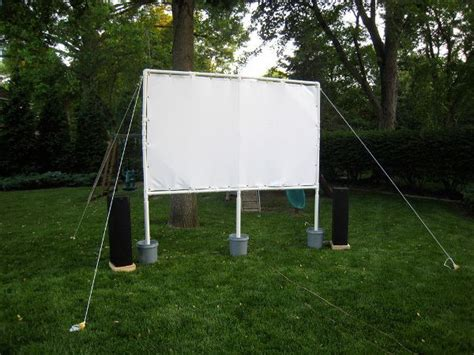 diy backyard theater screen patio and deck decor