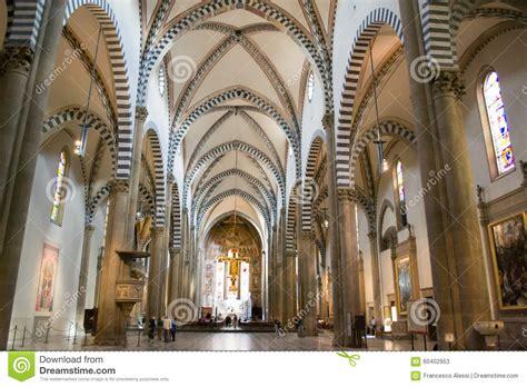 santa novella interno interior of basilica santa novella editorial stock