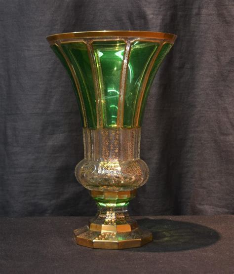 Moser Vase by Bohemian Moser Green To Clear Vase 8 Quot X 12 Quot