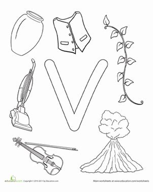 letter v coloring pages preschool v is for worksheet education com