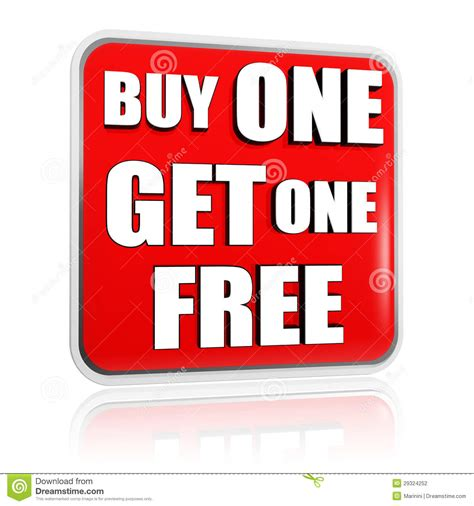 Buyonegetonefree Threesecond buy one get one free banner