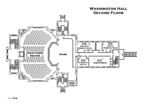 stage floor plan washington hall floor plans