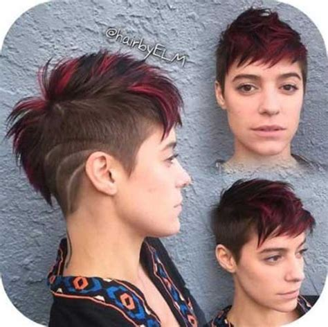 redhead women with spiked mohawk 20 funky short haircuts short hairstyles 2016 2017
