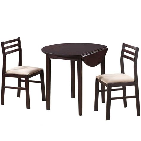 Dining Set With Leaf 3 Drop Leaf Dining Set In Dinette Sets