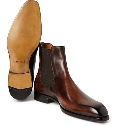 Burnished Chelsea Boots berluti burnished leather chelsea boots bottine homme