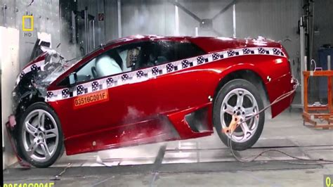 crashed red lamborghini lamborghini murcielago crash test 720p youtube