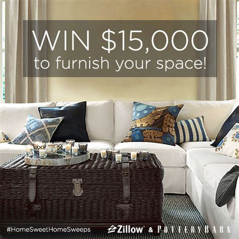 zillow home design sweepstakes you could win 15 000 in pottery barn home decor zillow