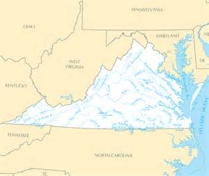 Map Of Virginia Rivers virginia map blank political virginia map with cities