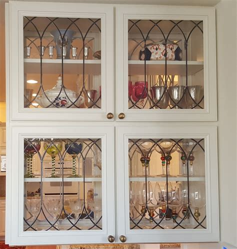 Leaded Glass Kitchen Cabinet Doors by Cabinet Doors Inserts Beveled Stained Glass Etched