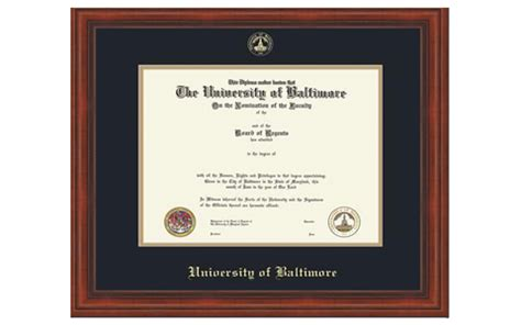 Mba Diploma Frame by Of Baltimore