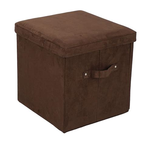 Microsuede Ottoman Folding Storage Ottoman Microsuede Brown Yu Shan Co Usa Ltd 112 63 Furniture Cing World