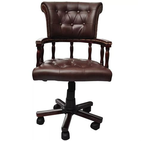 Chesterfield Captains Swivel Office Chair Brown Www Chesterfield Swivel Chair