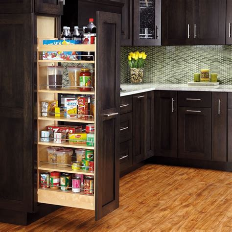 Pantry Slides by Rev A Shelf 8 Quot W X 58 Quot H Wood Pantry With Slide 448 Tp58 8