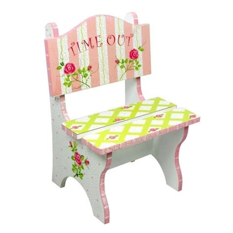 time out bench toddler teamson crackled rose room hand painted time out kids
