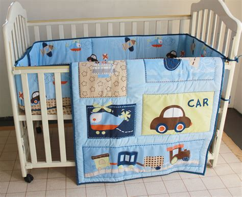 nursery bedding sets boy boys baby bedding set 3 car and bumper and quilt and sheet cotton ebay