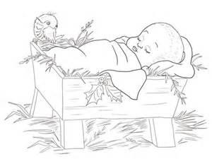cute nativity coloring pages baby jesus in a manger coloring page free printable
