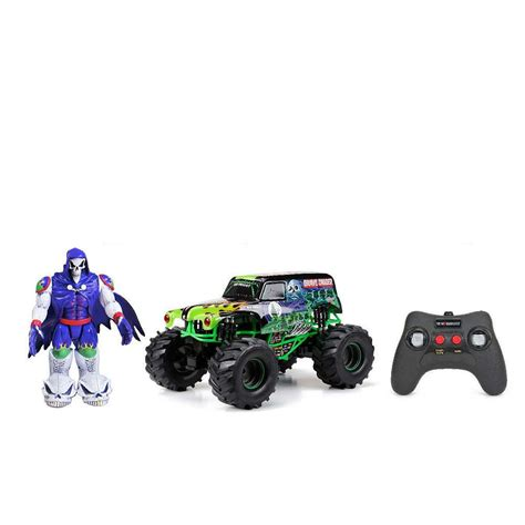 grave digger rc truck bright 1 10 r c f f jam truck with grave