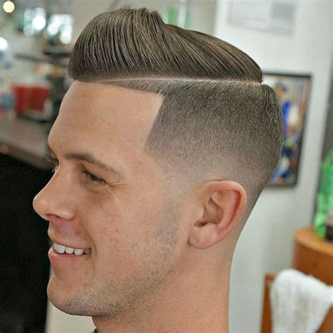 mens hard part hairstyle the hard part haircut