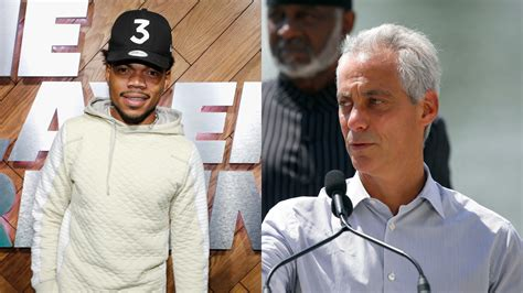 after mcdonald killing emanuel tries to buy time with chance the rapper mayor needed to be more compassionate
