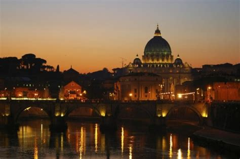 roma tramonto sul cupolone