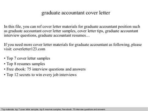 graduate accountant cover letter