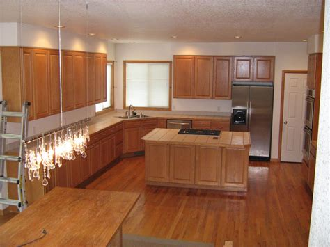 kitchen flooring ideas with oak cabinets integrity installations a division of front