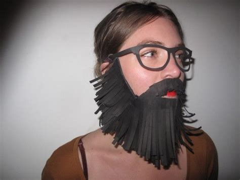 How To Make A Paper Beard - paper fringe beard wizard beard contest wizard staff
