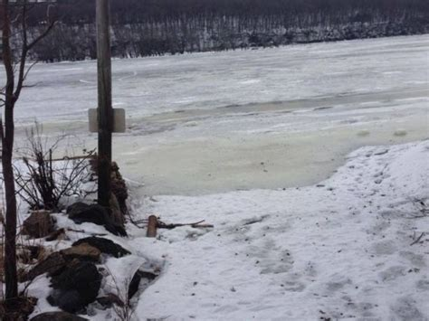 public boat launch on st croix river vehicle breaks through ice after driving on st croix