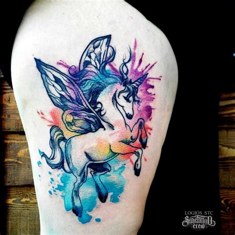watercolor tattoo new jersey brand new watercolor thigh from logios