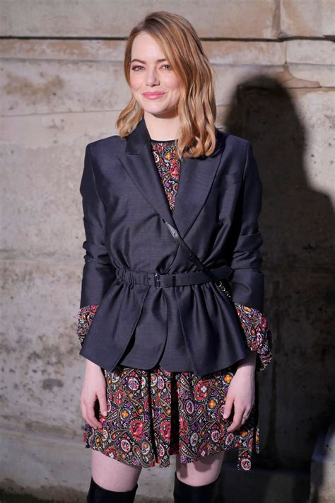 emma stone vuitton emma stone at louis vuitton fashion show in paris 03 06